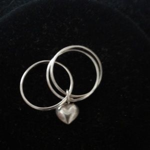 Jewelry - Sterling silver ring(925)with heart shaped pendant